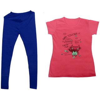 IndiWeaves Pack of 2 Multicolor PrintedRound Neck Tshirts