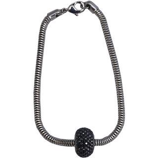 Infinite Arts Crystals Semi-Precious Silver Metal Bracelet