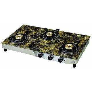 SignoraCare 7 mm (PLUS) Glass Top Three(3) Burner gas stove