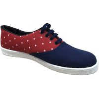 Beta Panchu Men's Red,Blue Lace-up Casual Shoes