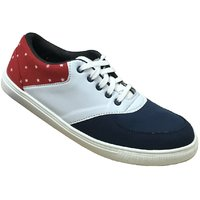 Beta Panchu Men's White,Red Lace-up Casual Shoes