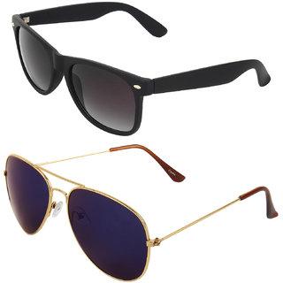 Zyaden Combo of Wayfarer Sunglasses  Aviator Sunglasses (Combo-7)