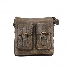 Deeya Brown Genuine Leather Messenger Bag