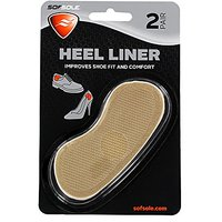 Sof Sole Heel Liner Cushions For Improved Shoe Fit And