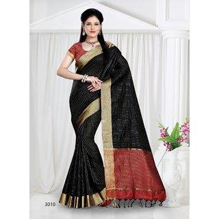 343c7f5389e3fe Buy Silk India International s Black Raw silk saree Online - Get 21% Off