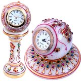 Gold Paint Marble Clock N Get Round Clock