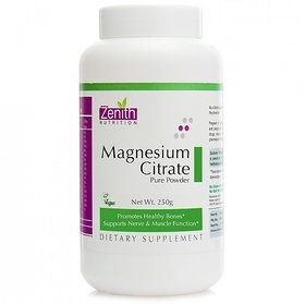 Zenith Nutrition Magnesium Citrate Powder  - 250gms