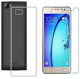 Soft Transparent Back Cover with 25HD Tempered Glass for Samsung Galaxy S6 Edge Plus