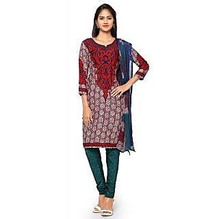 Aaina Multicolor American Crepe Printed Dress Material (SB-3267-JAN) (Unstitched)