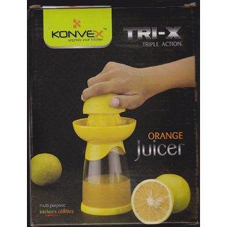 Unbranded KONVEX TRI-X TRIPLE ACTION ORANGE JUICER
