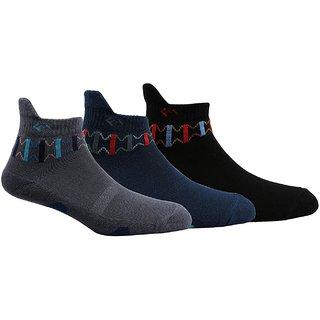 Men's Black Ankle Length Sports 3 Pair Socks