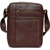 Cuzdan Men Brown Leatherette Messenger Bag