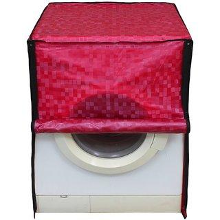 Glassiano pink colored waterproof and dustproof washing machine cover for front load IFB SenatorAquaSX 8KG washing machine
