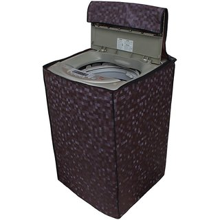 Glassiano coffee colored waterproof and dustproof washing machine cover for fully automatic WHIRLPOOL bloomwash08 8KG washing machine
