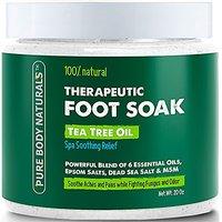Foot Soak With Tea Tree Oil And Epsom Salt - 20 Oz - Te