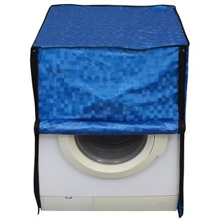 Glassiano blue colored waterproof and dustproof washing machine cover for front load IFB EvaAquaSX6 6KG washing machine