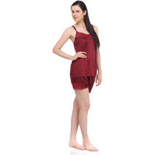 Fasense Exclsuive Summer Sleepwear Satin Barmuda nightwear Top  Shorts (DP041 D)
