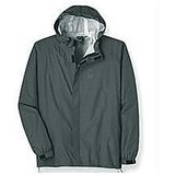 Rain Jacket With Hood Checks Design Double Layer