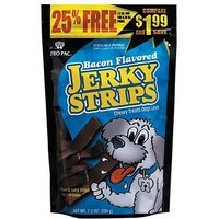 PRO PAC Bacon Flavored Jerky Strips Dog Treats, 7.2-Oun
