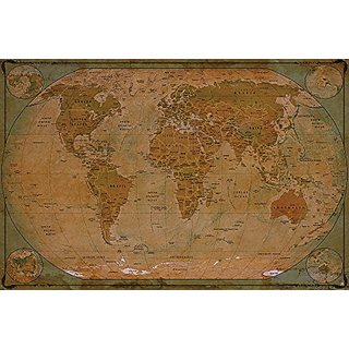 Buy world map atlas globus historic world map photo wallpaper world map atlas globus historic world map photo wallpaper vintage retro motif xxl world map mural wall decoration old age world map 827 inch x 55 gumiabroncs Choice Image
