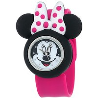 Disney Kids' MN1097 Minnie Mouse Watch With Pink Rubber