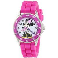 Disney Kids' MN1157 Minnie Mouse Pink Watch With Rubber