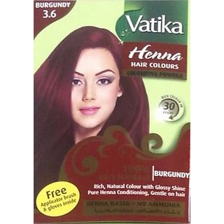 Buy Vatika Henna Hair Colours Henna Based 60 Gram Burgundy