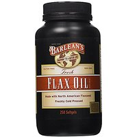 Barlean's Organic Oils Pure Flax Oil, 250 Count Softgel