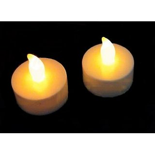 Flameless LED Tea Lights Battery Powered AMBER Color Realistic Flickering  Light Candles - 24-pack