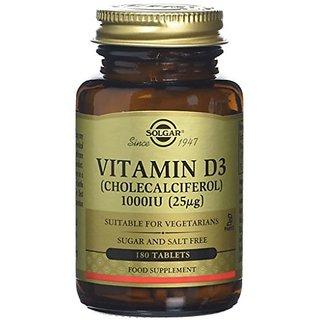 Solgar Vitamin D3 Cholecalciferol 1000 IU Tablets, 180