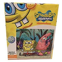 Puzzle - Spongebob and Patrick Playing Seashell Walky Talky - 100 Piece