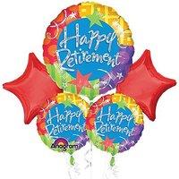 Happy Retirement Stars Mylar Foil Balloon Bouquet Set