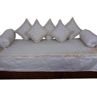 Off White Silk Dewan Cushion Bolster 8 Pc. Set