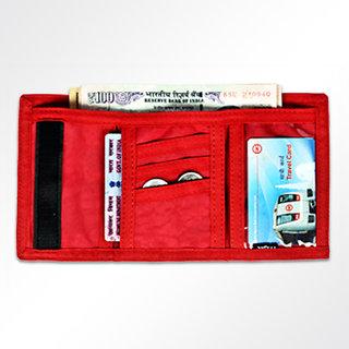 Viaggi essential Red Unisex card holder cum wallet