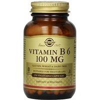 Solgar Vitamin B6 Vegetable Capsules, 100 Mg, 250 Count