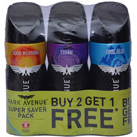 Park Avenue Spray Deodorant Good Morning Storm Cool Blue 130ml Each  (Set of 1)