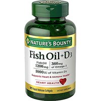 Nature's Bounty Fish Oil 1200 Mg + Vitamin D3 1000 IU,