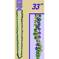 Mardi Gras Braided Beads (gold, Green, Purple) Party Ac