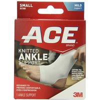 ACE Knitted Ankle Support, Small (Pack Of 2)