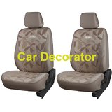 Car Seat Covers PRINTED BEIGE For Volkswagen Vento + FREE DVD Holder