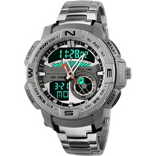 SKMEI Men Sports Watch Outdoor Casual Waterproof Dual Time Display Alarm