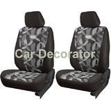 Car Seat Covers PRINTED GREY For Volkswagen Jetta + FREE DVD Holder