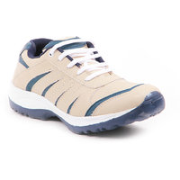 Foot N Style Men's White  Blue Running Shoes