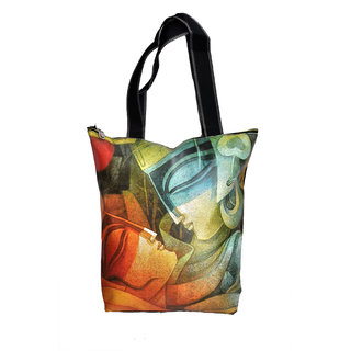NoVowels Polyster Shopping Bag For Women The Mummy Print In Multicolor