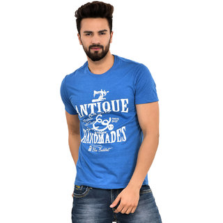 Blue Buddha Men's Cotton Printed Half Sleeve T-shirt