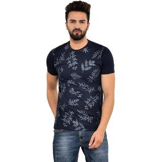 Blue Buddha Men's Cotton Printed Half Sleeve T-shirt