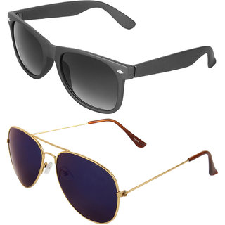 Zyaden Combo of Wayfarer Sunglasses  Aviator Sunglasses (Combo-15)