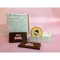 'It's A Girl' Chocolate Bar - A Pack Of 4