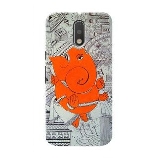 HACHI Ganpati Ji Mobile Cover For Motorola Moto G4