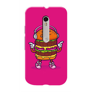 HACHI Love Burger  Music Mobile Cover For Motorola Moto G3 :: Motorola Moto G (3rd Gen)